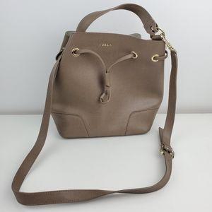 Furla bucket bag Daino putt color leather purse